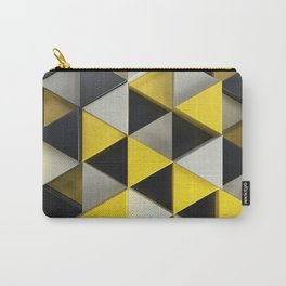 Pattern of black, white and yellow triangle prisms Carry-All Pouch