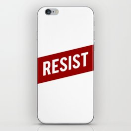 RESIST red white bold anti Trump iPhone Skin