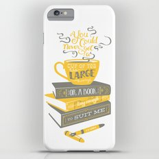 Tea & Books (C.S Lewis) - gray/yellow Slim Case iPhone 6s Plus