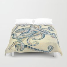 Blue Octopus Duvet Cover