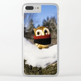 Harvey the Owl IV Clear iPhone Case