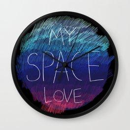 My space love Wall Clock