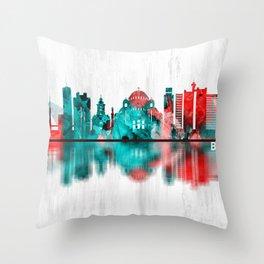 Belgrade Serbia Skyline Throw Pillow
