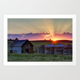 Home Town Sunset Art Print