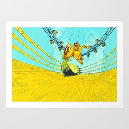 Luchador Lime Art Print