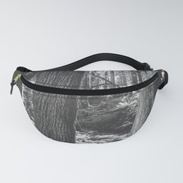 Forest Wonderland - Black and White Nature Photography Fanny Pack