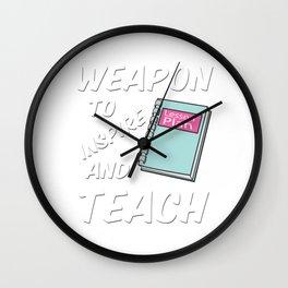 Best Teacher teaching 6th school love children teach Tshirt Wall Clock