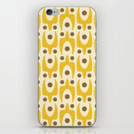 Mid Century Modern Abstract Pattern 641 Yellow and Brown iPhone Skin