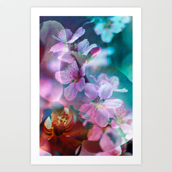 Double Flowers Art Print