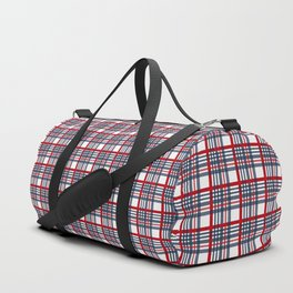 Plaid pattern Duffle Bag