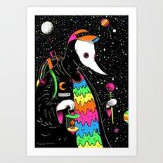 Space Plague Wizard Art Print