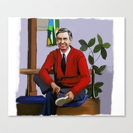 Will You Be My Neighbor Mr Rogers Fan Art Illustration Canvas Print