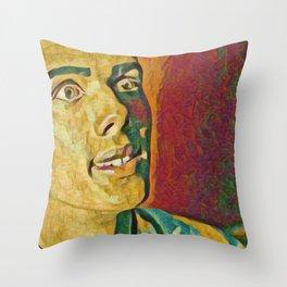 Stromae Artistic Illustration Plaster Painting Style Throw Pillow