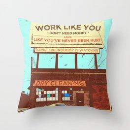 SUMMER CRUISER (WORK LIKE YOU DON'T NEED MONEY) Throw Pillow