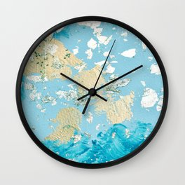 Gold Abstract Modern Painting Wall Clock