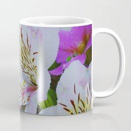 Pink and white Peruvian Lilies, Alstroemeria flowers Coffee Mug