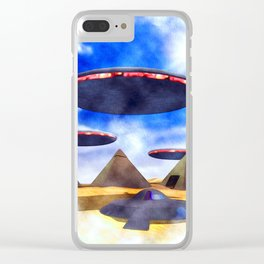 Ancient Aliens - UFO Pyramids Clear iPhone Case