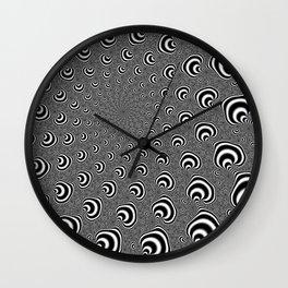 Zebra Swirl Wall Clock