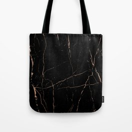 Black and rose gold / copper Tote Bag
