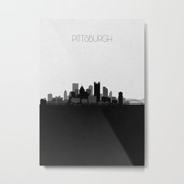 City Skylines: Pittsburgh Metal Print