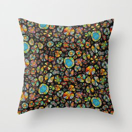 Barca Dots Pattern multicolor/black Throw Pillow