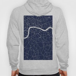 Navy on White London Street Map Hoody