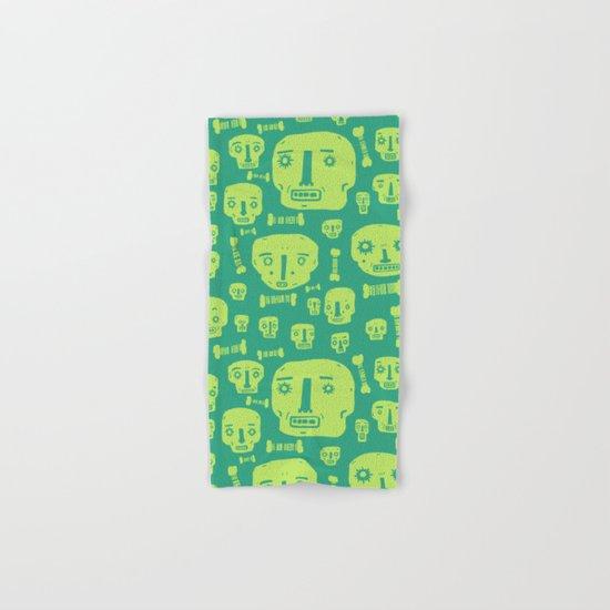 Skulls & Bones I - Green Hand & Bath Towel