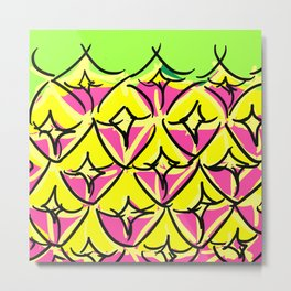 Pineapple Forever Metal Print