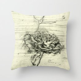 """Italian Courtyard Rose"" Throw Pillow"