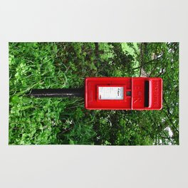 Red UK Letterbox Painting Rug
