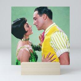 Gene Kelly & Cyd Charisse - Green - Singin' in the Rain Mini Art Print