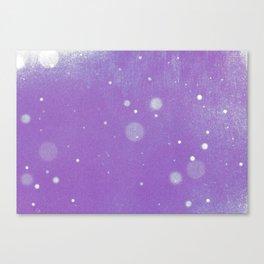 Vintage snow and purple sky Canvas Print