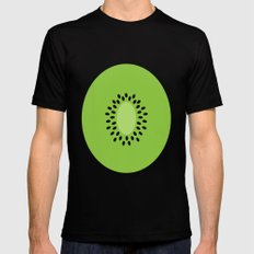 #3 Kiwi Fruit Mens Fitted Tee MEDIUM Black
