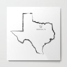 Denton, TX Metal Print