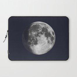 Waxing Gibbous Moon on Navy Laptop Sleeve