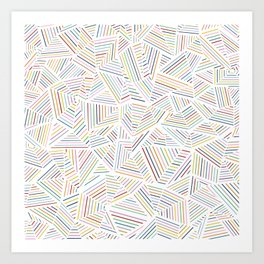 Abstraction Linear Rainbow Art Print