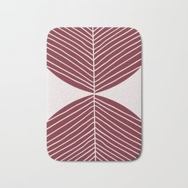 Brownish Red Minimal Fall Leaf Bath Mat