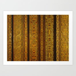 Looking up in the Alhambra Art Print
