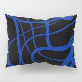 Blue lines on black background Pillow Sham