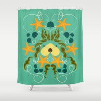 otter Shower Curtains featuring Sea Otter by Janine Lecour