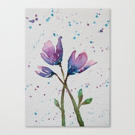 Spring Blossom I - Watercolor Flowers Canvas Print