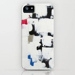 "No. 30 - Print of Original Acrylic Painting on canvas - 16"" x 20"" - (White and multi-color) iPhone Case"