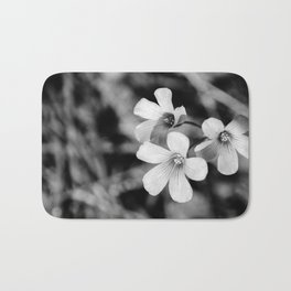 Floral black and white Bath Mat