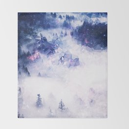 Mists of Thought Throw Blanket