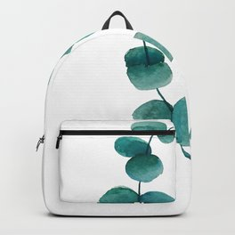 green eucalyptus watercolor Backpack