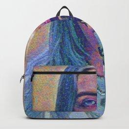 Billie Creepy Artistic Illustration Acid Pointillism Style Backpack