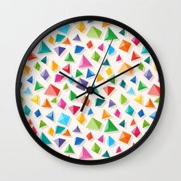 Paper Pyramid Wall Clock