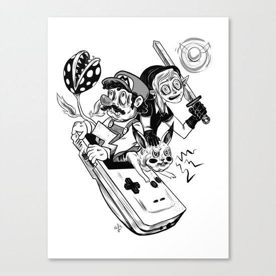 Handheld Heroes Canvas Print