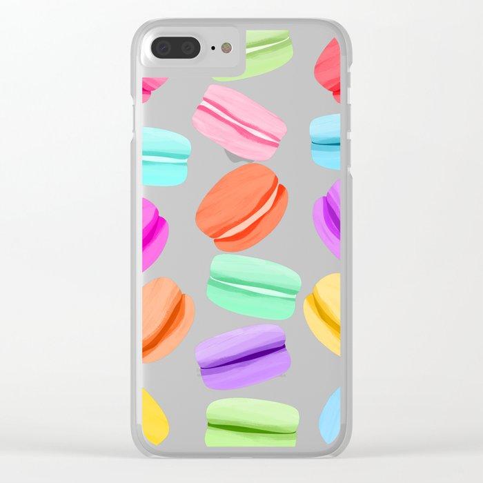 Macaron Rainbow Clear iPhone Case