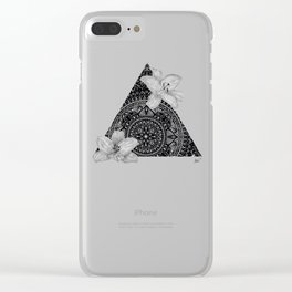 Consider the Lilies Geometric Design Clear iPhone Case